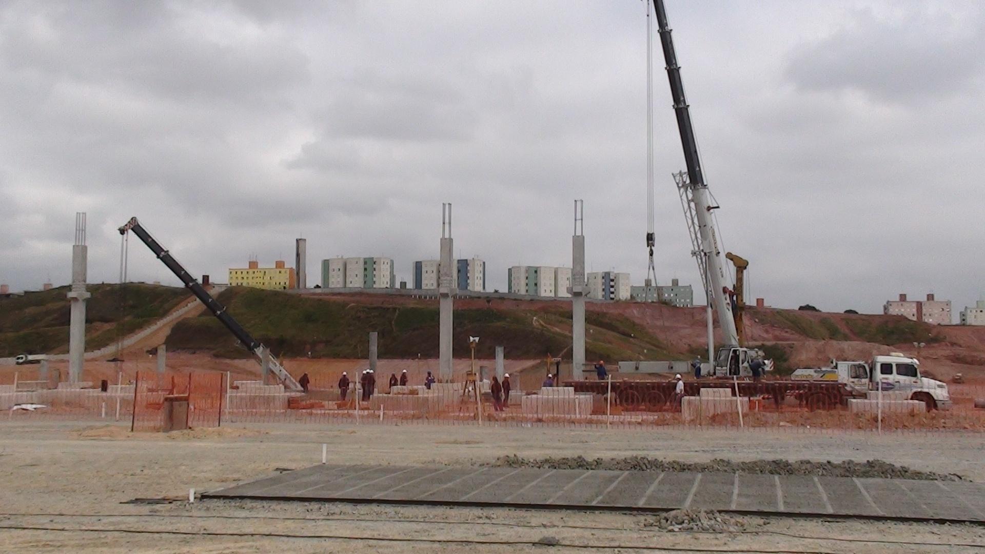 Terreno onde será o estádio do Corinthians já tem 12% das obras terminadas