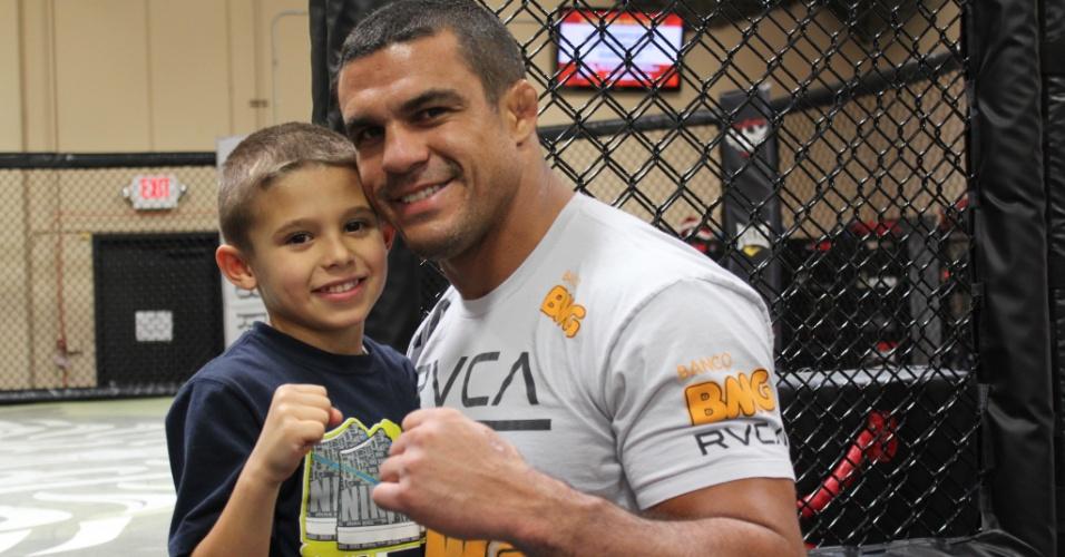 Filho de Vitor Belfort, Davi manda mensagem para Sonnen: