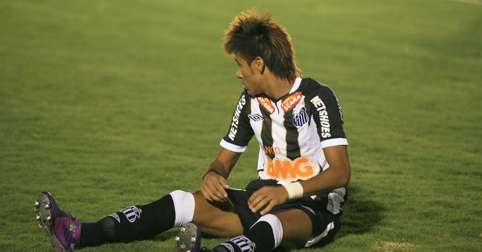 O atacante Neymar, do Santos