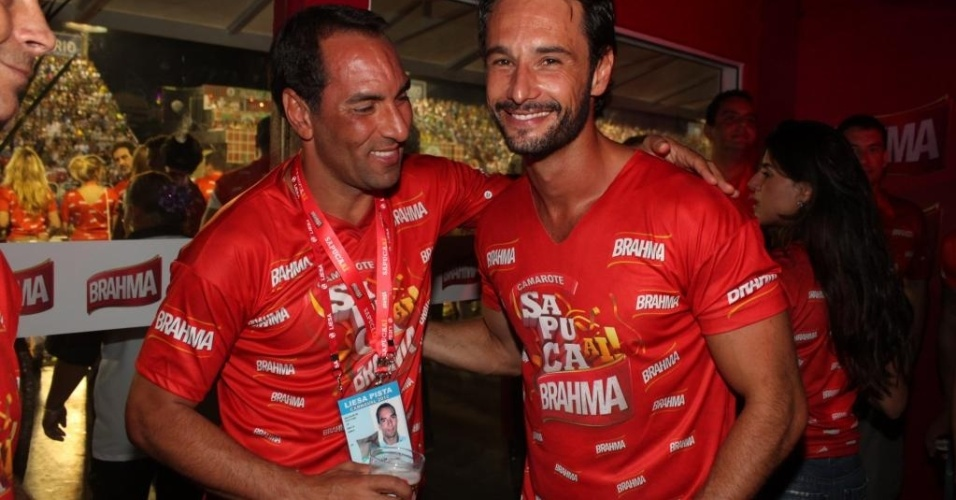 Edmundo se diverte com ator Rodrigo Santoro