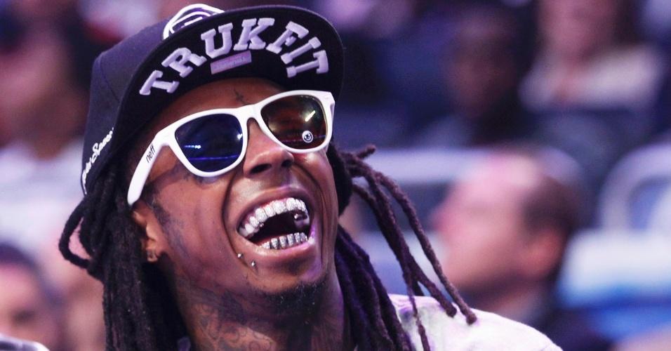 O rapper Lil' Wayne esteve entre os fãs ilustres da partida