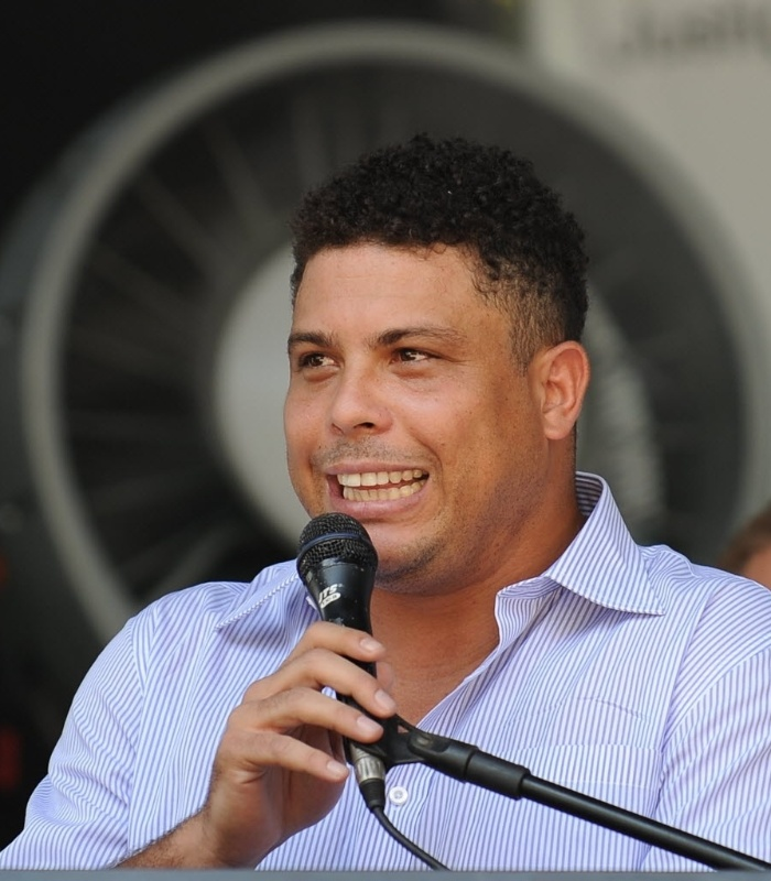Ronaldo discursa durante evento de preveno de acidentes no local de trabalho no Maracan