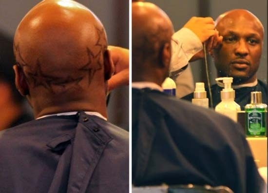 Lamar Odom, jogador do Los Angeles Lakers, adota corte de cabelo diferente