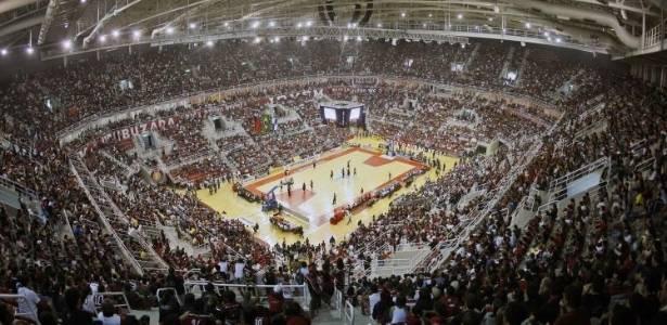 HSBC Arena lotada para partida do Flamengo no NBB