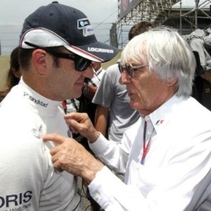 Rubens Barrichello conversa com Bernie Ecclestone durante fim de semana do GP Brasil em Interlagos
