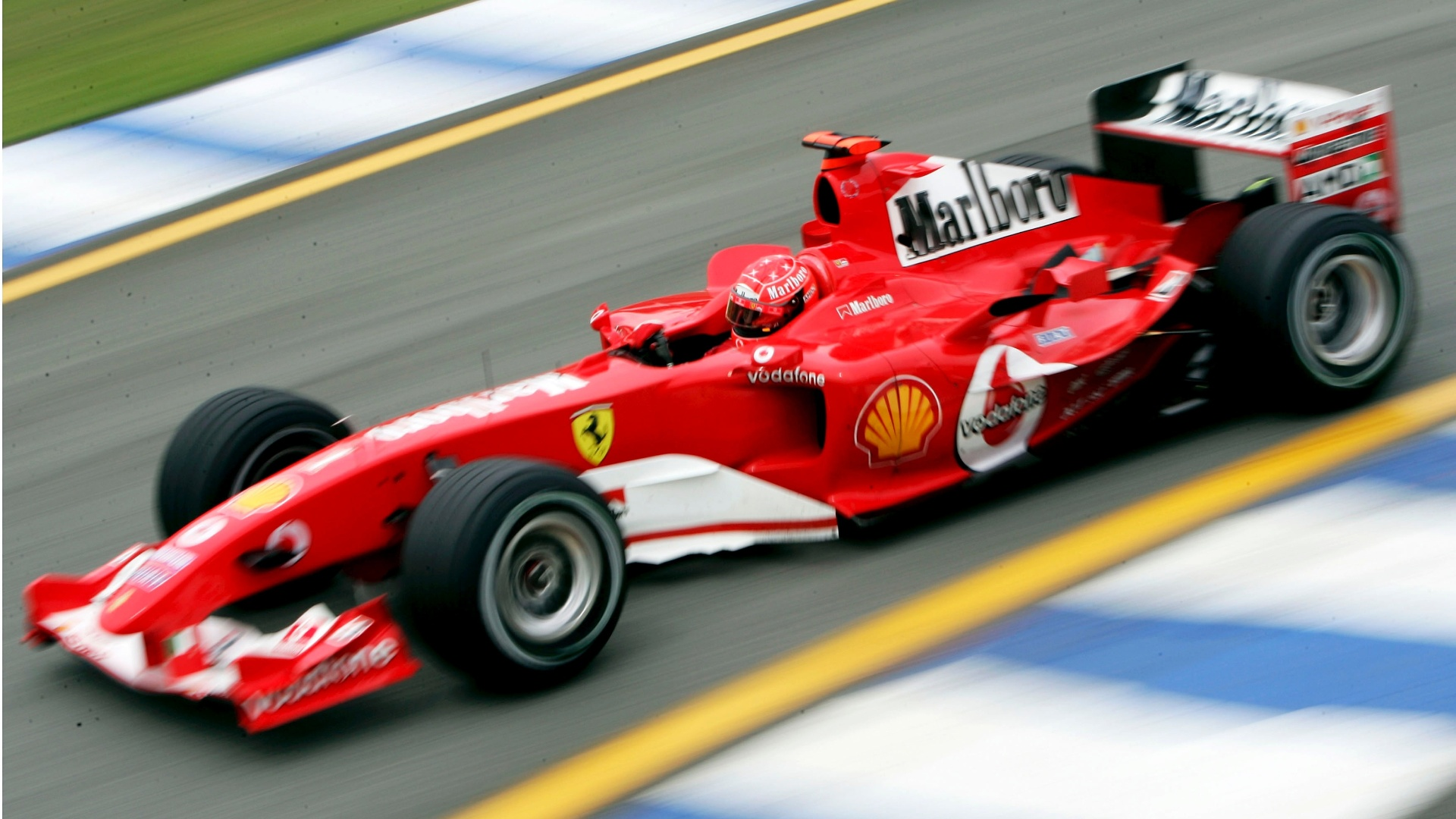 A Ferrari de Michael Schumacher em 2004