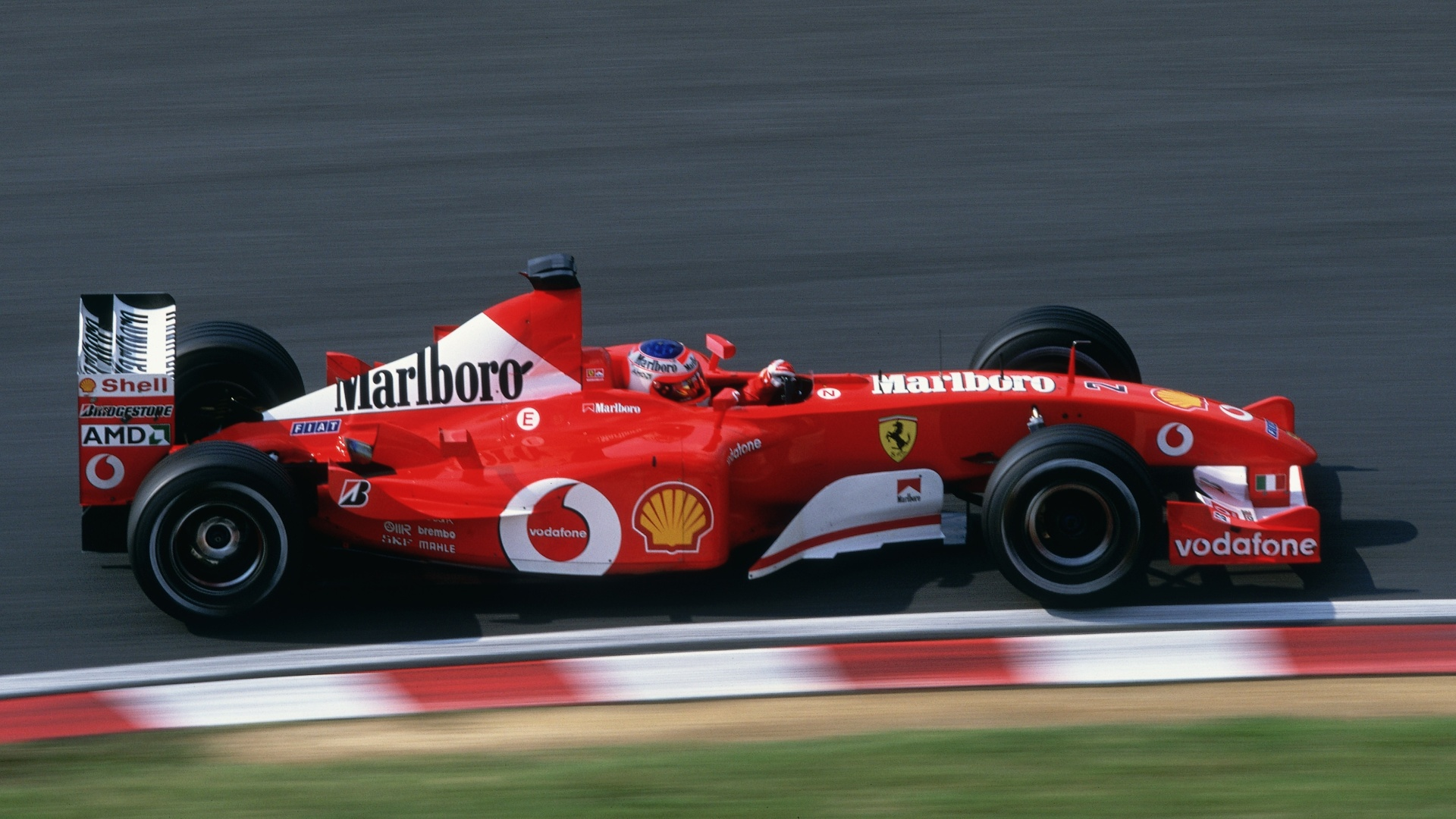A Ferrari de Rubens Barrichello em 2002