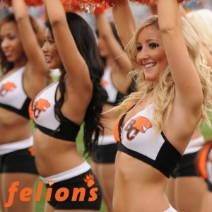 Cheerleaders do BC Lions, de Edmonton, Canad