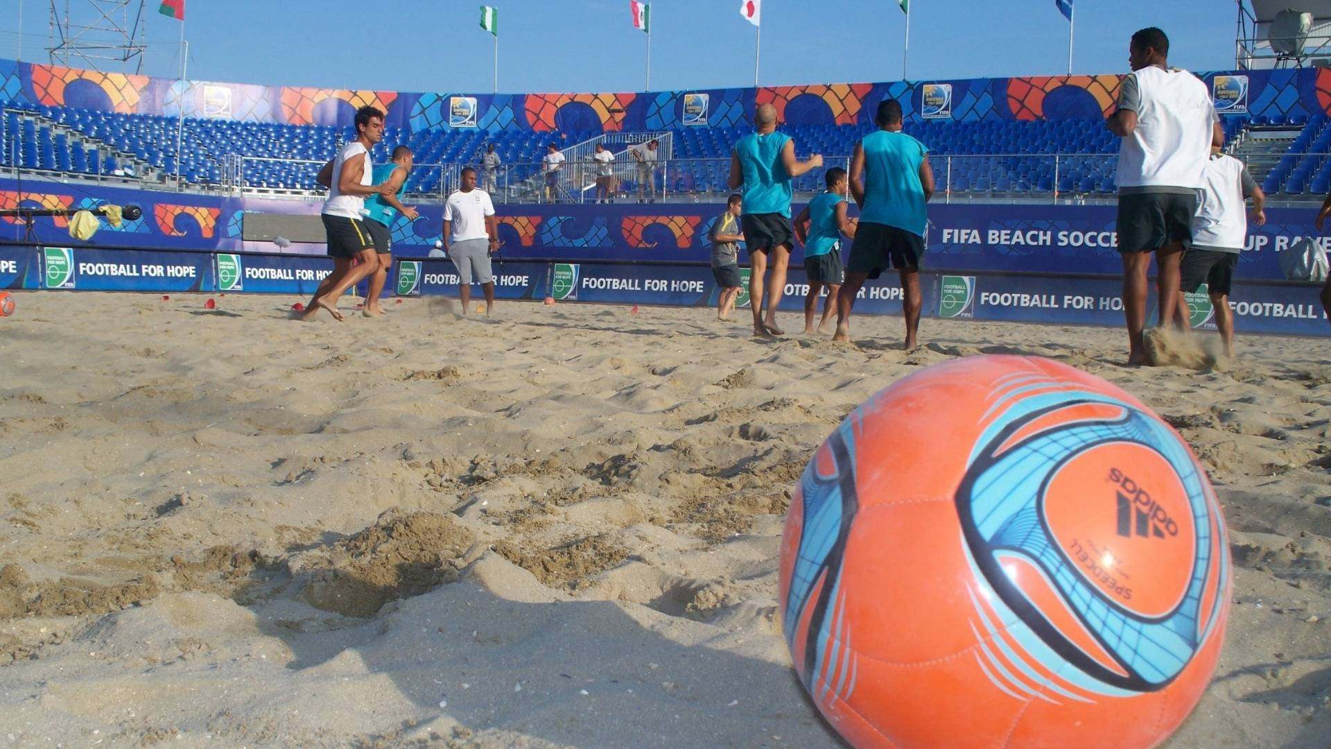 Seleo brasileira de Beach Soccer treina para o mundial de Ravenna (31/8/2011)