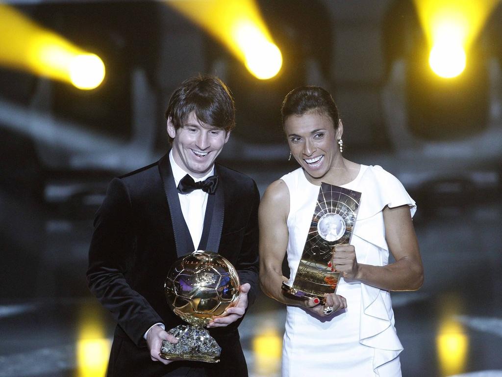 Argentino Lionel Messi é eleito o melhor do mundo pela 2ª vez; brasileira Marta é a melhor pela 5ª vez