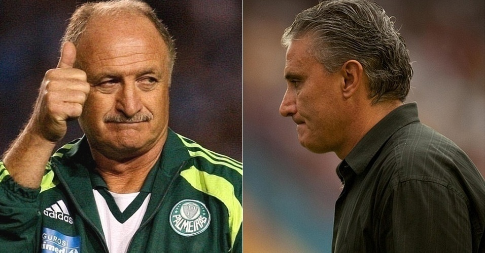 Montagem com Luiz Felipe Scolari e Tite