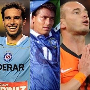 Niell, Romário e Sneijder em montagem