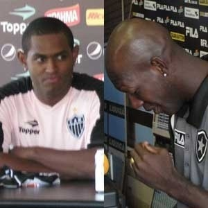 Montagem com Jobson no Atltico-Mg e Somlia chorando no Botafogo