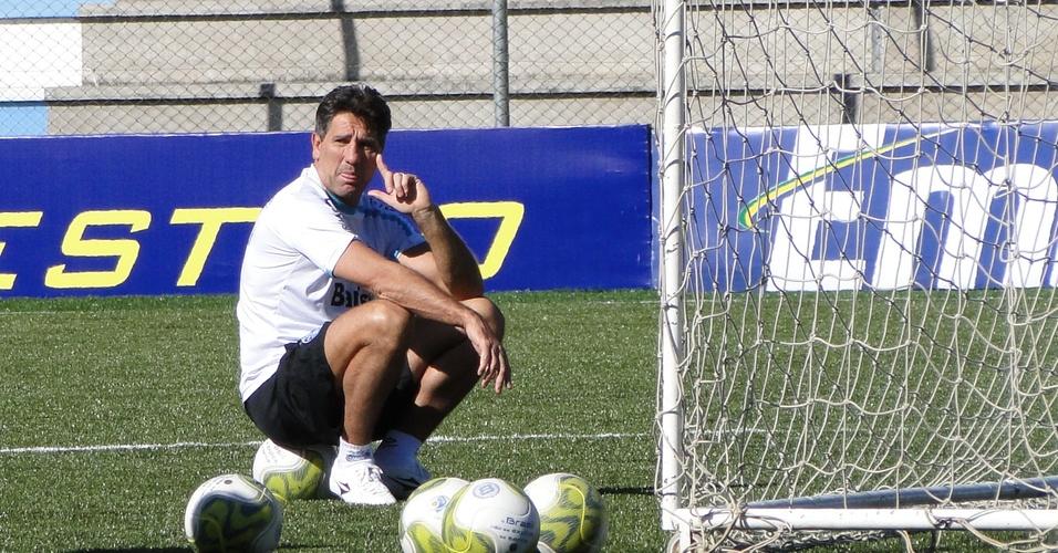 Técnico Renato Gaúcho do Grêmio em treinamento no estádio Passo D'Areia em Porto Alegre