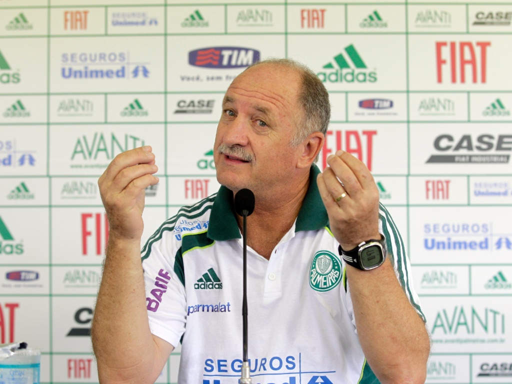Tcnico Luiz Felipe Scolari, o Felipo,  fotografado durante entrevista coletiva no Palmeiras