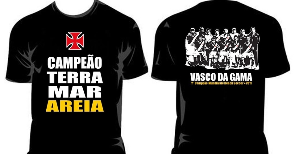 Vasco lana camisa comemorativa pelo ttulo do Mundialito de Futebol de Areia (01/04/2011)