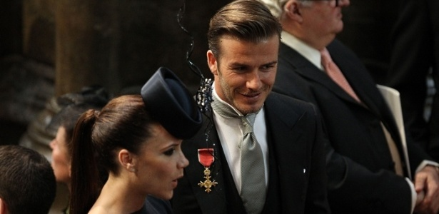 David e Victoria Beckham chegam ao casamento real entre o príncipe William e Kate Middleton