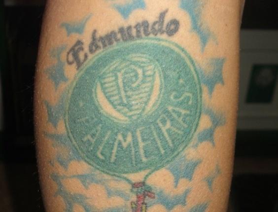 Vanessa Ribeiro do Amaral decidiu fazer a tatoo quando o Edmundo voltou ao Palmeiras, em 1996