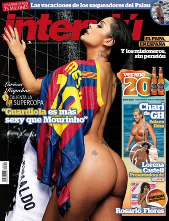 Larissa Riquelme na capa da revista espanhola 