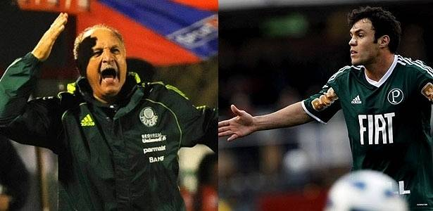 Luiz Felipe Scolari e Klber, do Palmeiras