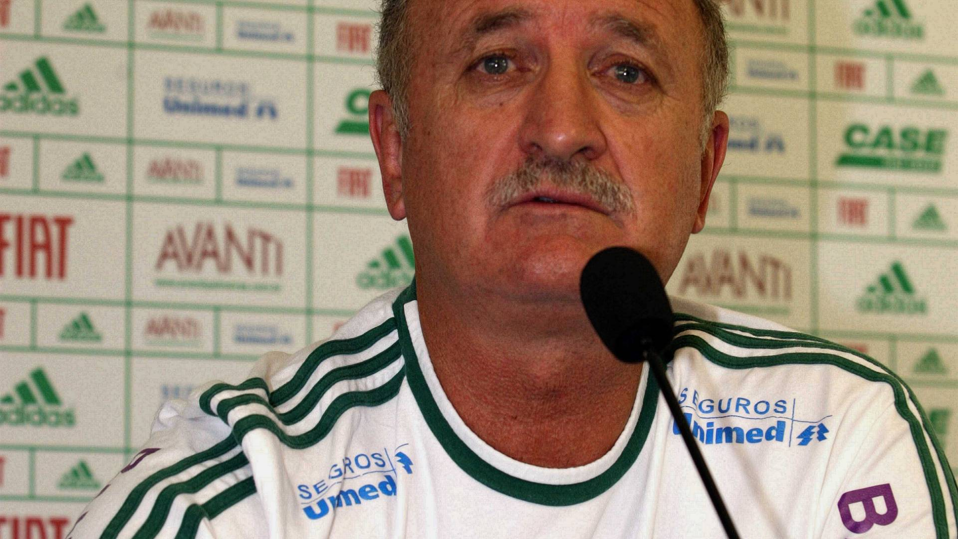 Luiz Felipe Scolari, tcnico do Palmeiras, durante entrevista coletiva
