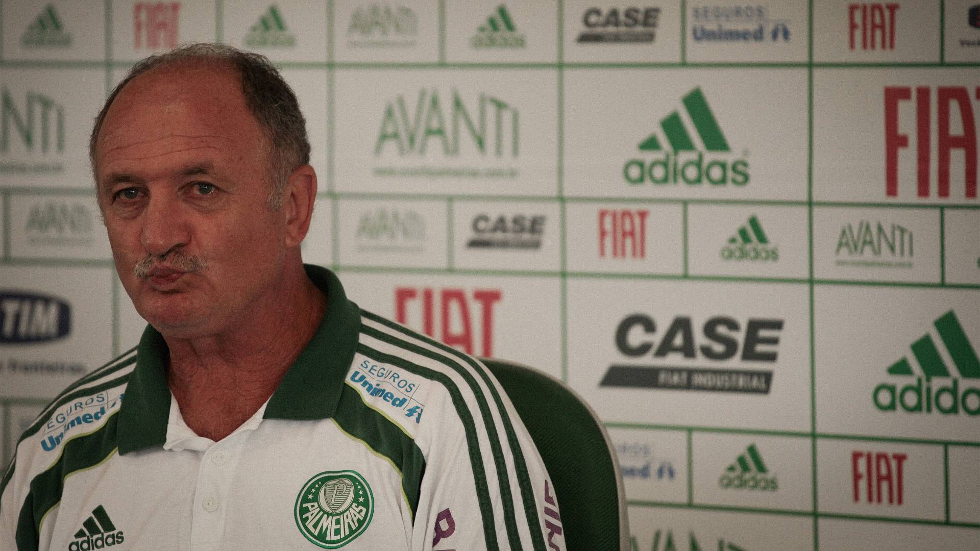 Tcnico Luiz Felipe Scolari, durante entrevista coletiva no Palmeiras