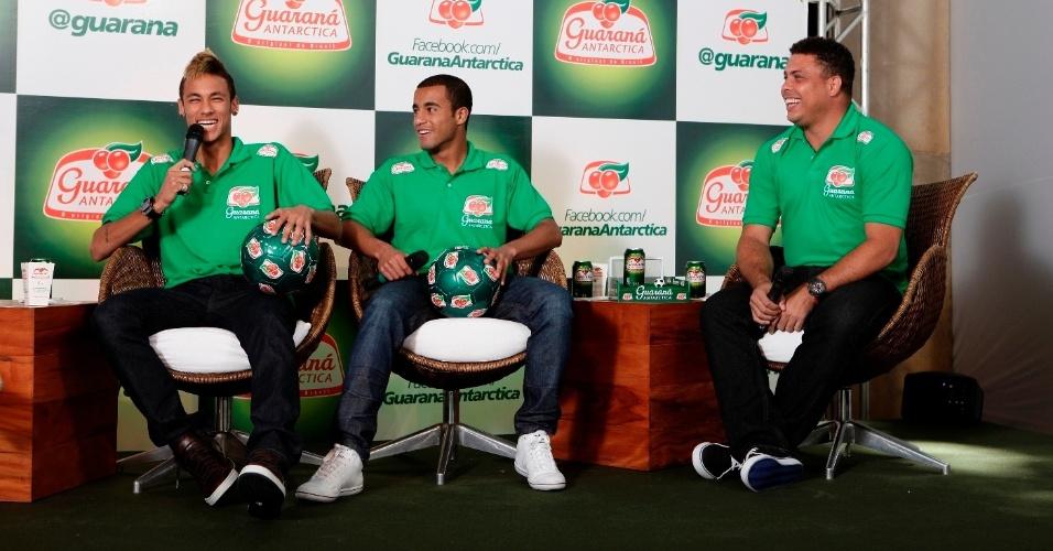 Neymar, Lucas e Ronaldo