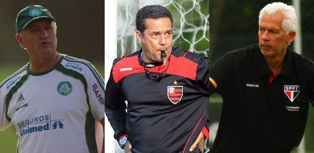 Tcnicos Felipo, Vanderlei Luxemburgo e Emerson  disputam Estaduais pressionados