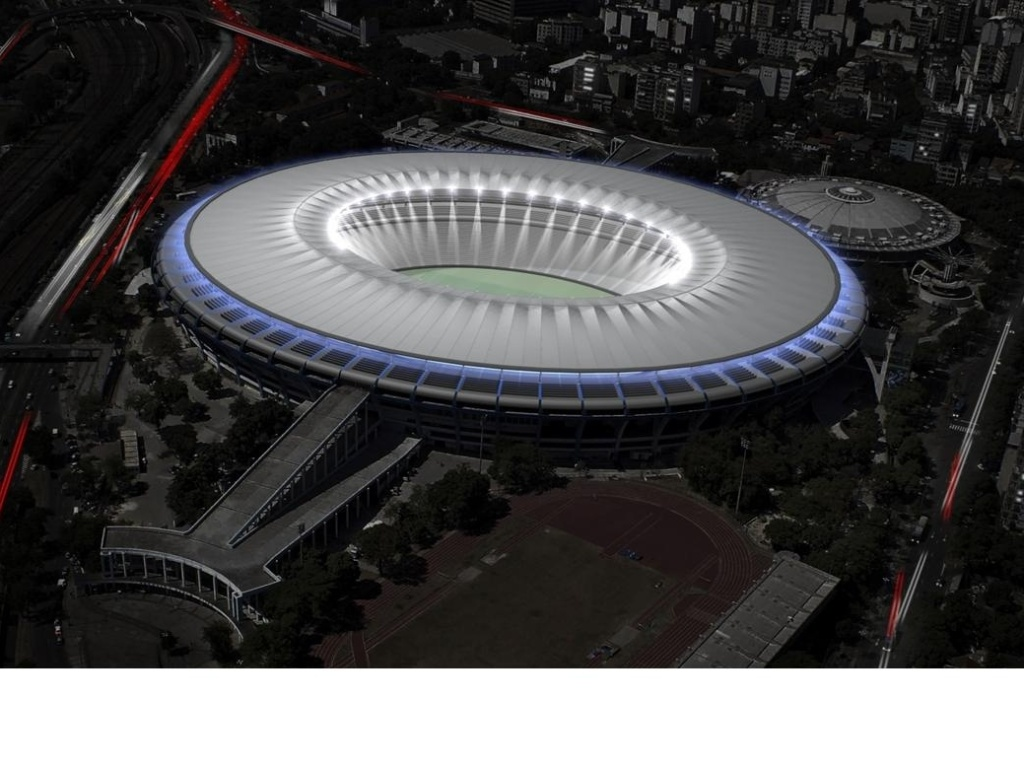 Maquete mostra como estdio do Maracan ficar aps a reforma para Copa do Mundo de 2014