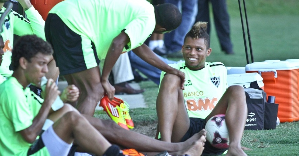 Atacante Andr, do Atltico-MG, durante treino na Cidade do Galo (25/1/2012)