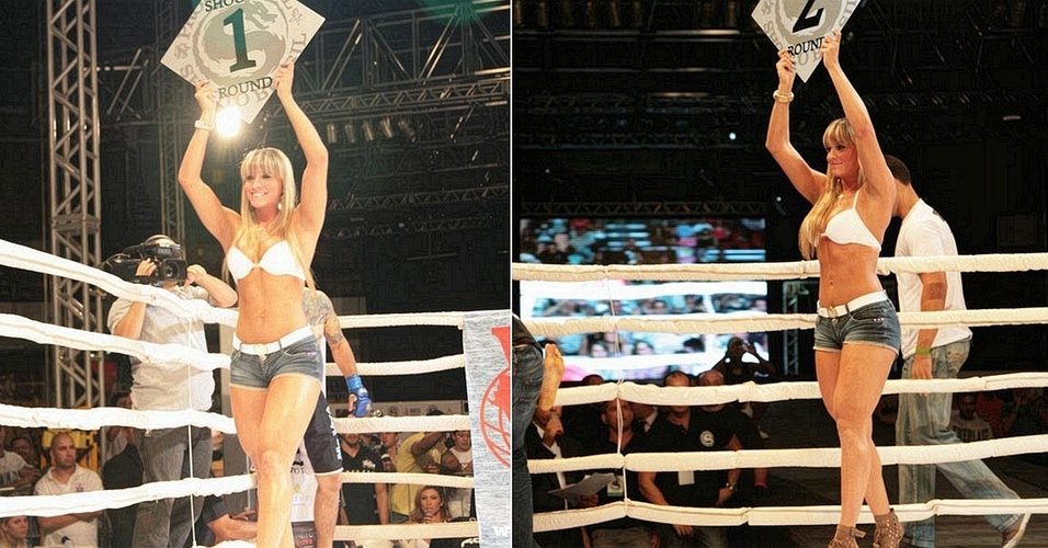 Juju Panicat tambm atua como ring girl de MMA