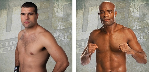 Shogun e Anderson Silva esto no lbum de figurinhas do UFC, lanado no dia 12 de setembro (12/09/52011)