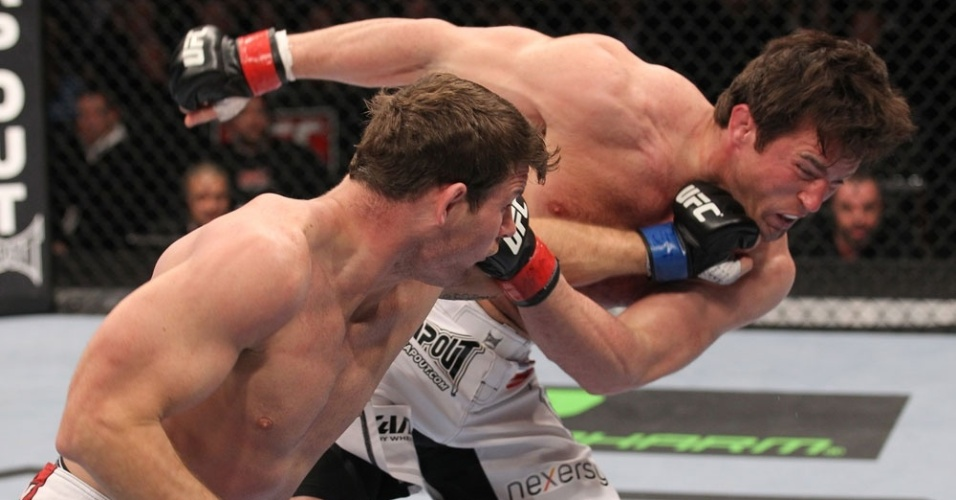 Chael Sonnen sofre para vencer Michael Bisping no UFC on FOX 2, em Chicago