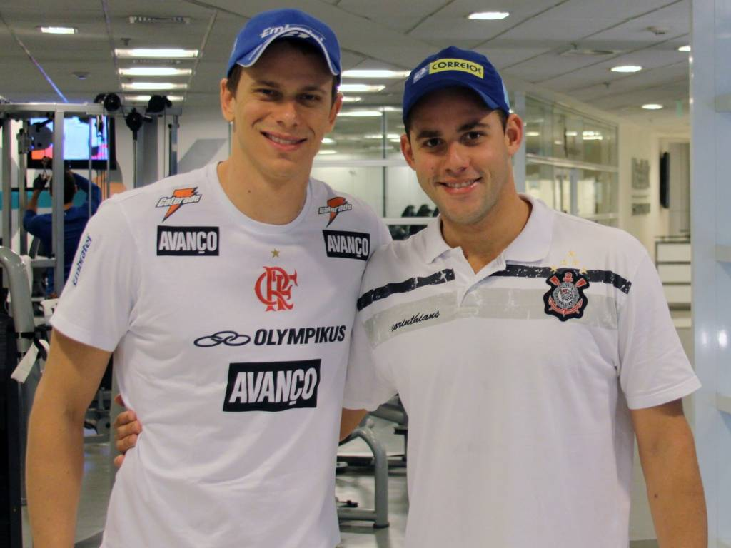 Cesar Cielo e Thiago Pereira (25/08/2011)
