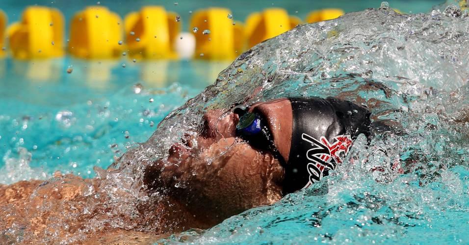 Thiago Pereira nada a final dos 400 m medley no José Finkel