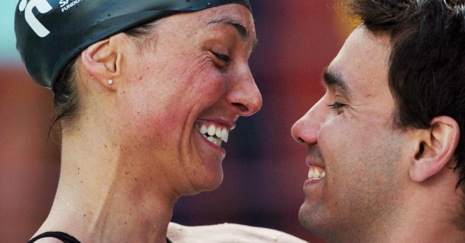 Nadadores Fabiola Molina e Diogo Yabe são casados desde novembro de 2006
