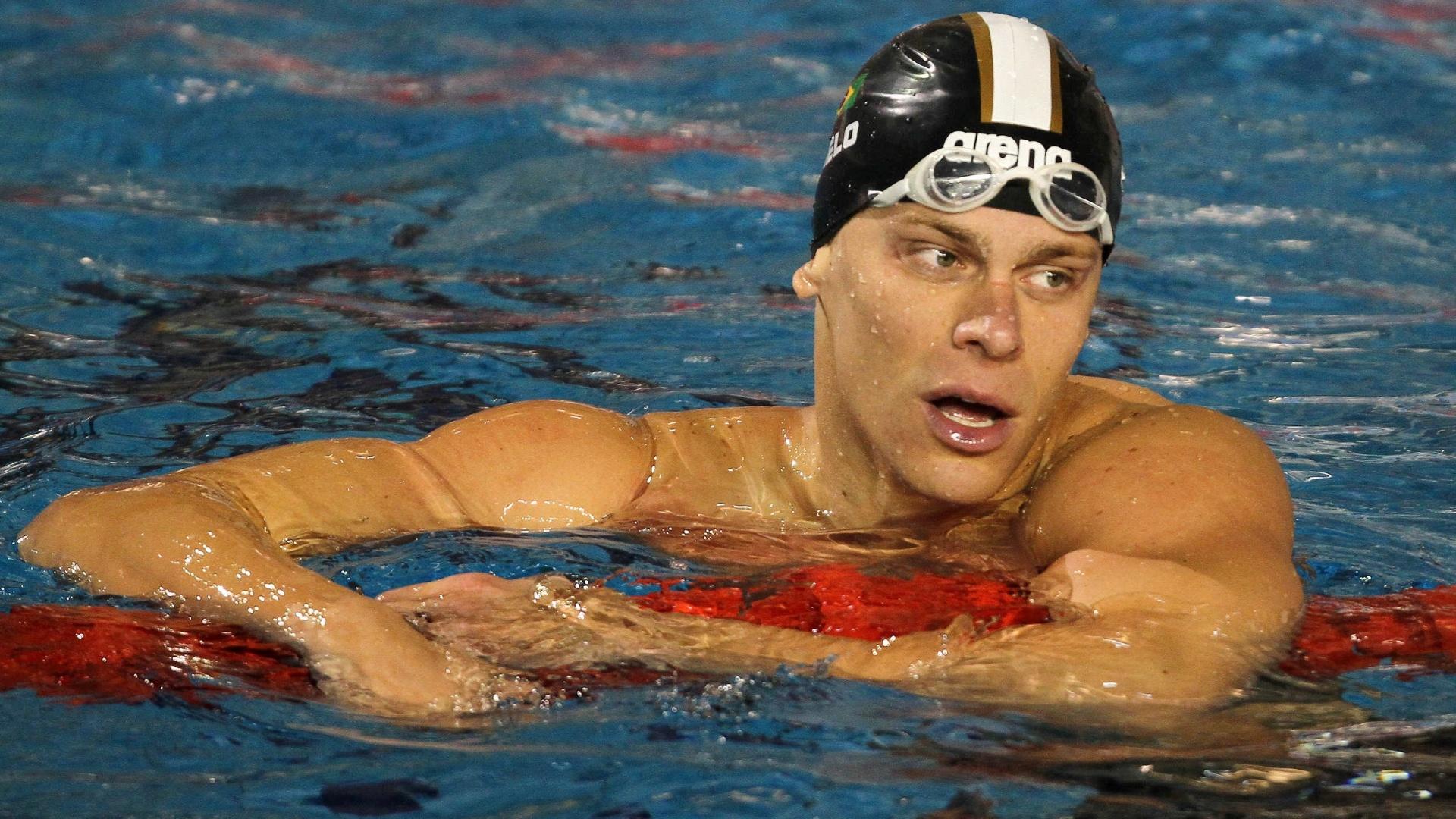 Cesar Cielo faz o melhor tempo nas eliminatórias dos 100m livre nos Jogos Pan-Americanos de Guadalajara (16/10/2011)