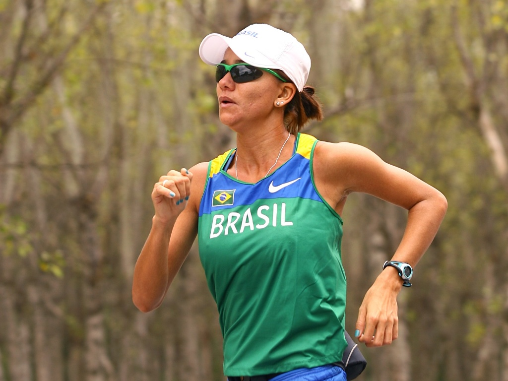 Erica Sena  uma das representantes brasileiras da marcha atltica no Pan-2011