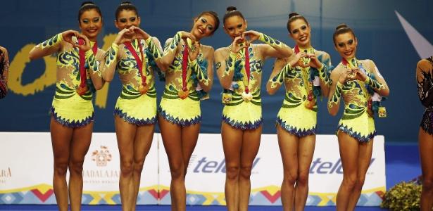 Equipe de ginástica rítmica venceu o 3º ouro em Guadalajara