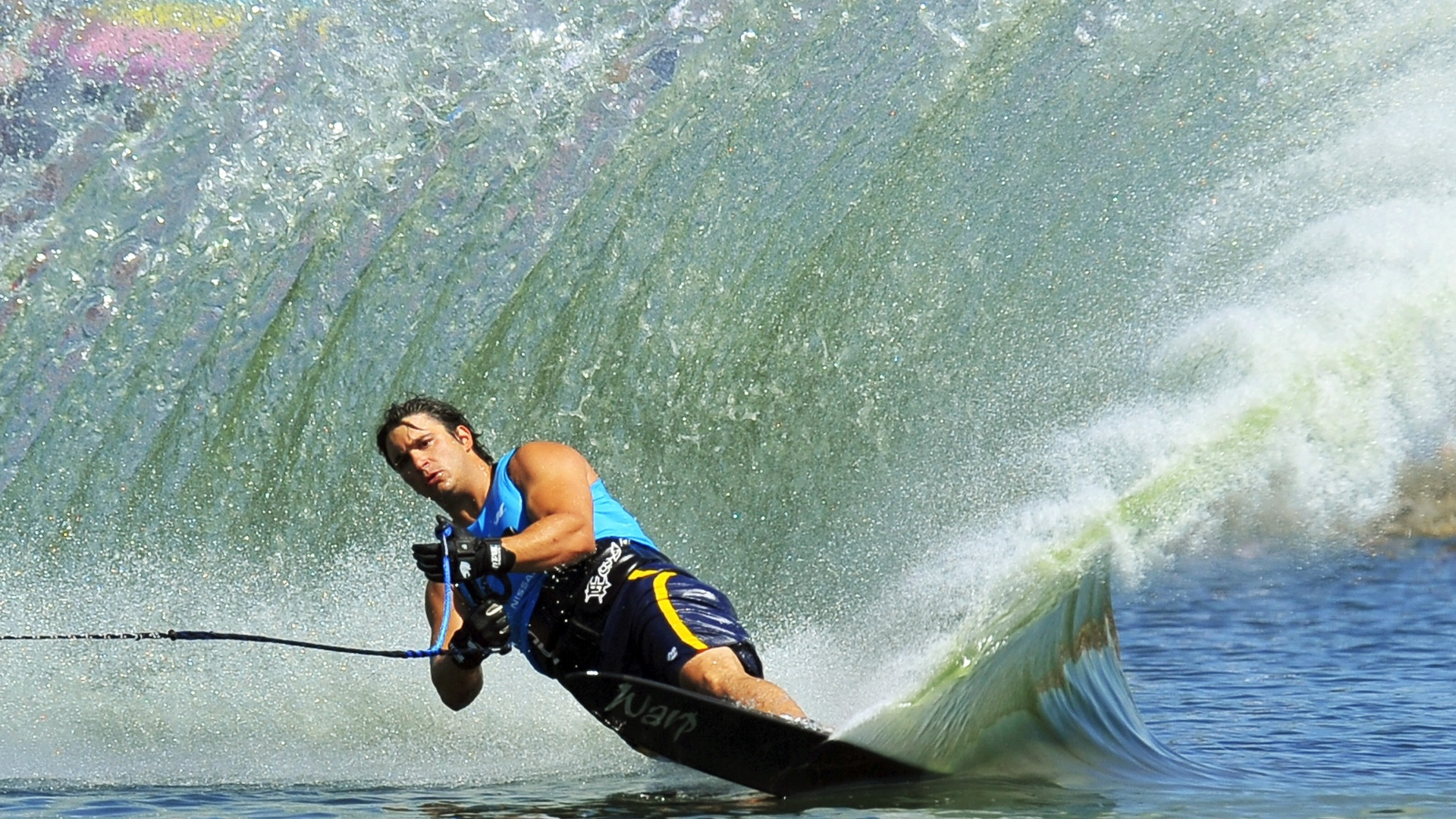 Felipe Neves acumulou 33,50 pontos na final do slalom e encerrou a competição em 6º (23/10/2011)