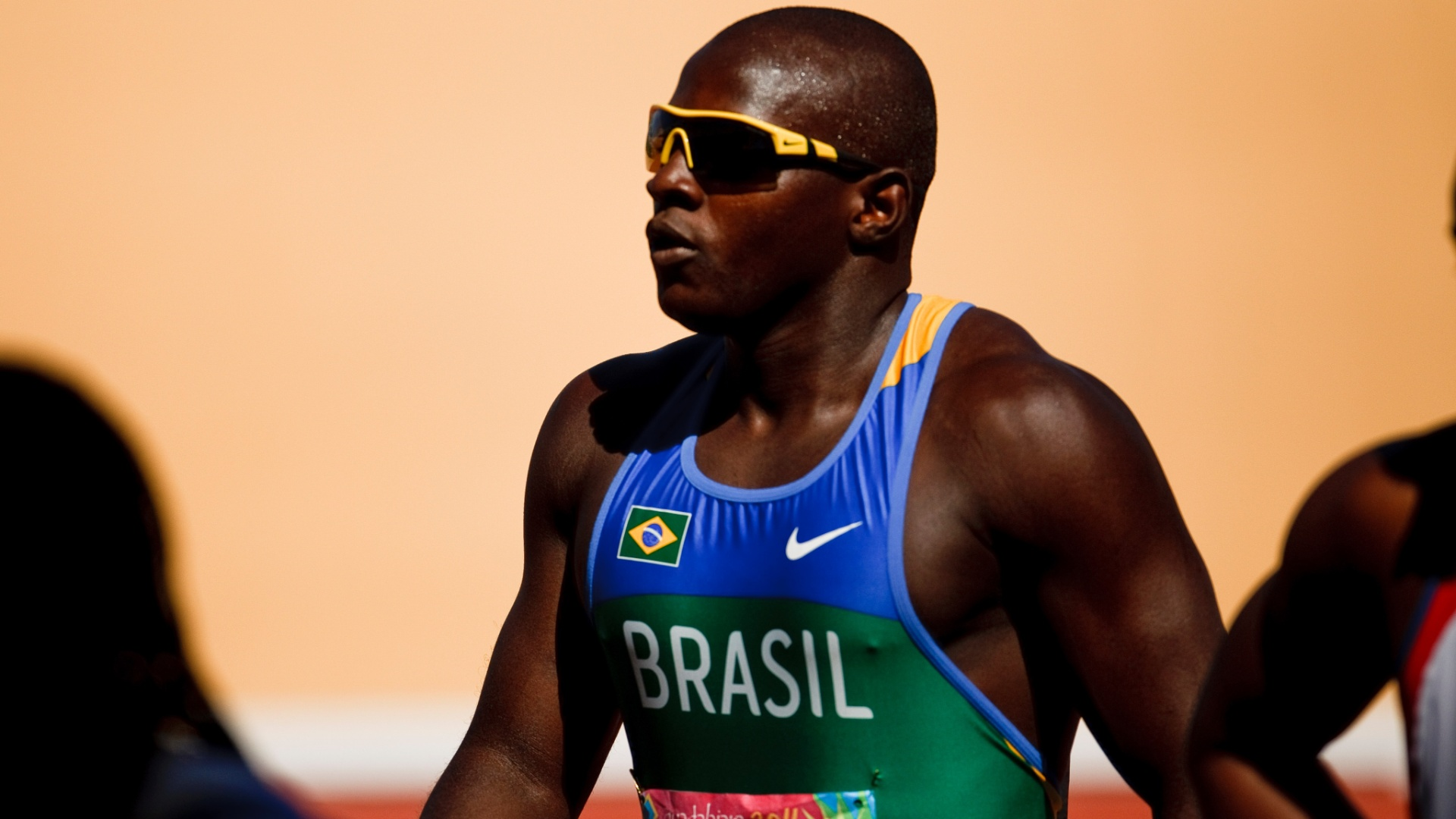 O brasileiro Nilson Andr venceu sua bateria dos 100 m e avanou  semifinal no Pan de Guadalajara, mais tarde ele conseguiu a classificao para a final (24/10/2011)