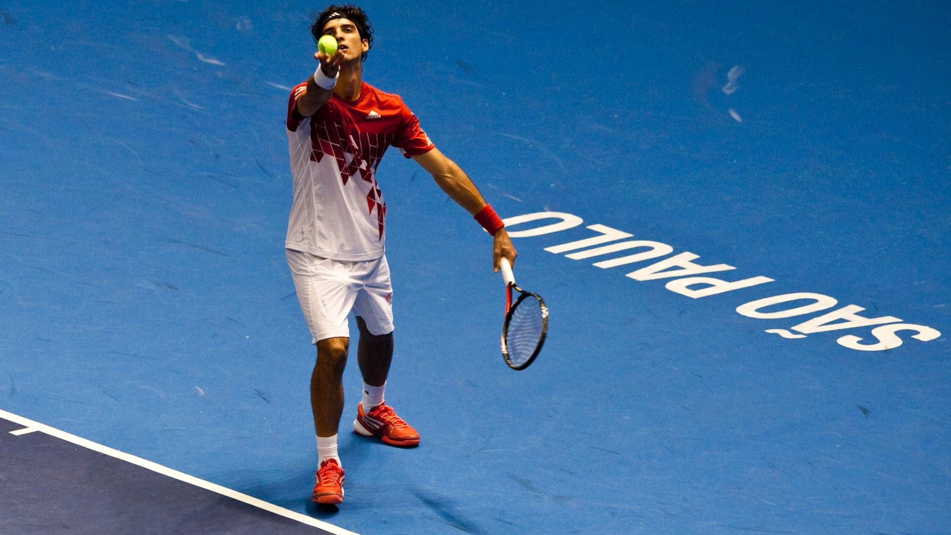 Thomaz Bellucci estreia no ATP Challenger Finals em So Paulo (16/11/2011)