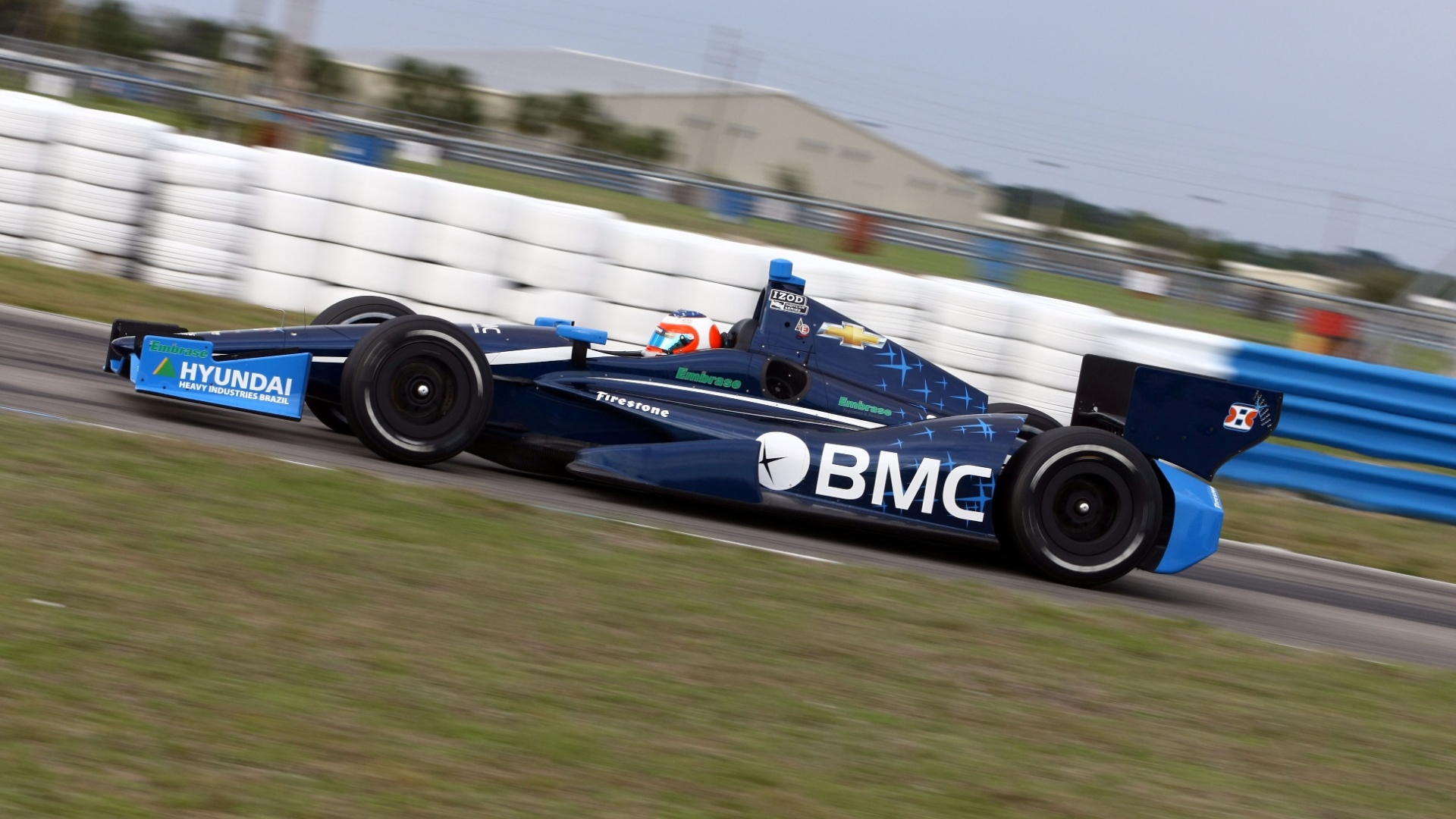 Rubens Barrichello em Sebring, durante seu primeiro treino oficial na Indy