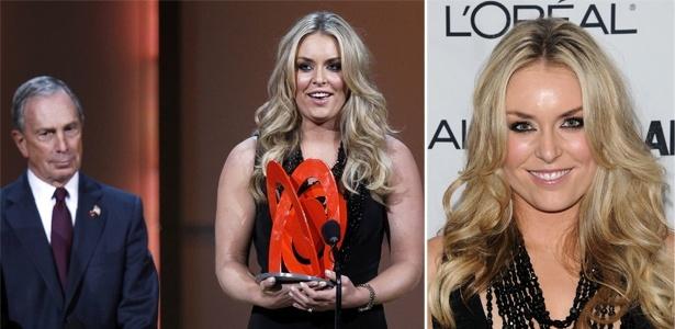 Lindsey Vonn recebe prêmio de Mulher do Ano de revista