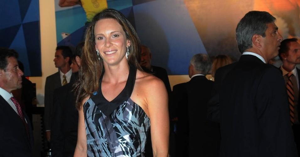 Fabiana Murer chega para a cerimônia do Troféu Brasil Olímpico no Rio de Janeiro