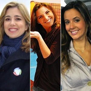 Montagem com as apresentadoras Mylena Ciribelli, Glenda Kozlowski e Paloma Tocci