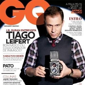 Capa da revista GQ com Tiago Leifert (11/05/2011)