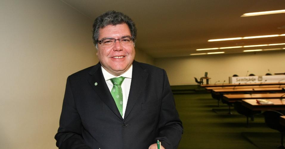 Sarney Filho (PV-MA), autor do Projeto de Lei que torna obrigatória a adoção de medidas ecologicamente sustentáveis nas obras de infraestrutura para as Olimpíadas de 2016 (19/08/2009)
