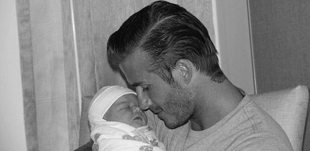 David Beckham com a filha Harper Seven