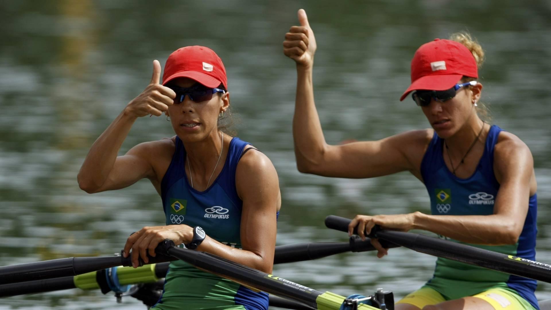 Camila Carvalho (dir) e Luciana Granato estiveram nas Olimpíadas de Pequim
